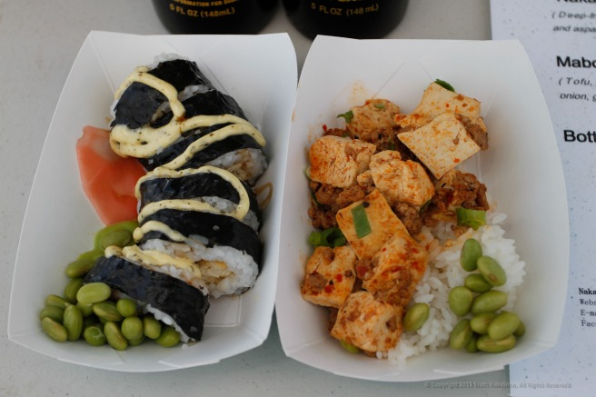4 - Nakayoshi Cafe's Tofu Sushi and Mabo Dofu (photo by Scott Nakajima:Nakajima Photography)