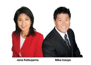 Emcees Jana Katsuyama and Mike Inouye